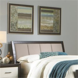 Fashion Bed Monterey Panel Upholstered Headboard in Espresso