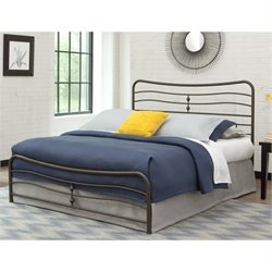 Fashion Bed Snap Cosmos Full Metal Bed in Coffee