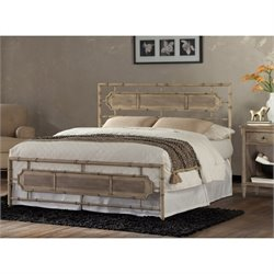 Fashion Bed Snap Laughlin King Metal Bed in Desert Sand