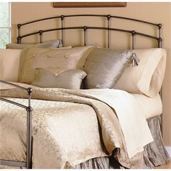 Fashion Bed Fenton Metal Headboard in Black Walnut Finish - Twin