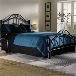Fashion Bed Linden Metal Bed in Ebony Finish - California King
