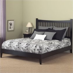 Fashion Bed Jakarta Modern Platform Bed in Black Finish
