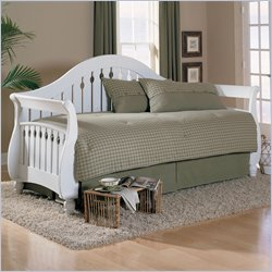 Fashion Bed Fraser Wood Daybed with Link Spring in Frost Finish