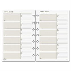Day Runner Telephone/Address Planner Pages