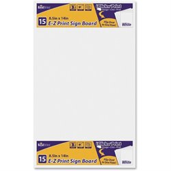Geographics E-Z Print Sign Board (Set of 10)
