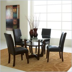 Standard Furniture Apollo 5 Piece Dining Set in Merlot
