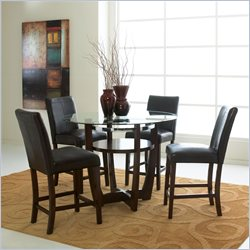 Standard Furniture Apollo Counter Height 5 Piece Dining Set in Merlot