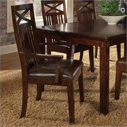 Standard Furniture Sonoma Arm Dining Chair in Warm Oak Finish