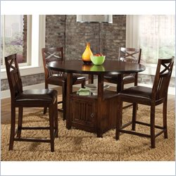 Standard Furniture Sonoma Counter Height Table in Warm Oak Finish