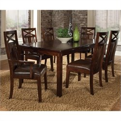 Standard Furniture Sonoma 7 Piece Dining Set in Warm Oak
