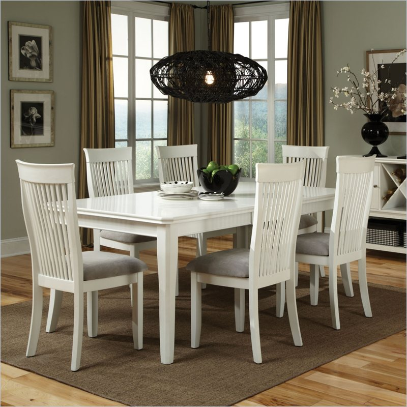 Standard furniture regency rectangular dining table with for Kitchen table with insert