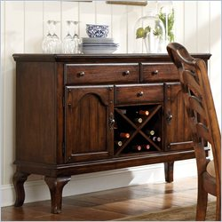 Standard Furniture Crossroad Server in Rustic Brown