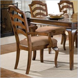 Standard Furniture Crossroad Arm Chair in Rustic Brown