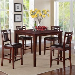 Standard Furniture Westlake Counter Height Dining Table Set in Golden Brown