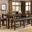 ADD TO YOUR SET: Standard Furniture Abaco Counter Height Table with Leaf in Tobacco Brown