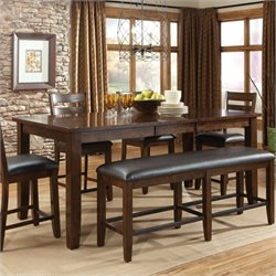 Standard Furniture Abaco Counter Height Table with Leaf in Tobacco Brown