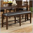 ADD TO YOUR SET: Standard Furniture Abaco Counter Height Bench in Tobacco Brown