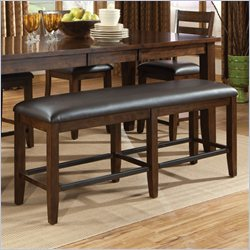 Standard Furniture Abaco Counter Height Bench in Tobacco Brown