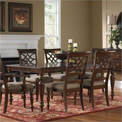 Standard Furniture Woodmont Rectangular Dining Table with Leaf in Brown Cherry