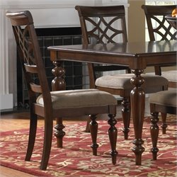 Standard Furniture Woodmont Side Chair in Brown Cherry