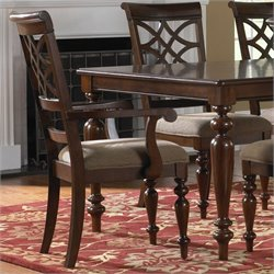 Standard Furniture mont Arm Dining Chair in Brown Cherry