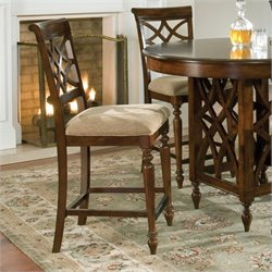 Standard Furniture Woodmont Stool in Brown Cherry