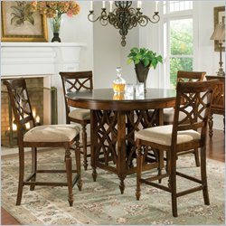 Standard Furniture Woodmont Counter Height Table in Brown Cherry