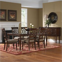 Standard Furniture Woodmont 7 Piece Dining Set in Brown Cherry