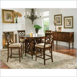 Standard Furniture Woodmont 5 Piece Dining Set in Brown Cherry