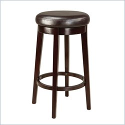 Standard Furniture Smart Stools Bar Height Round Brown Uplholstered
