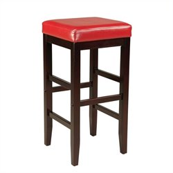 Standard Furniture Smart Stools Bar Height Square Red Upholstered