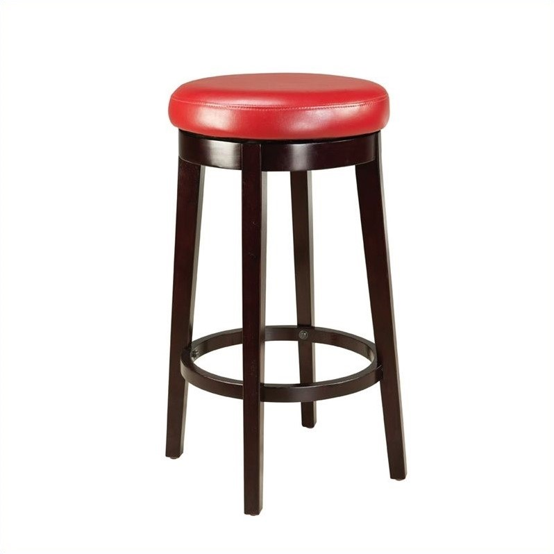 Standard Furniture Smart Stools Bar Height Round Red Uplholstered