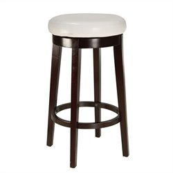 Standard Furniture Smart Stools Bar Height Round White Uplholstered