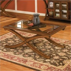 Standard Furniture Madrid Ractangle Coffee Table in Brown Cherry
