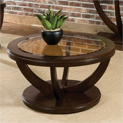 Standard Furniture La Jolla Round Coffee Table in Dark Merlot