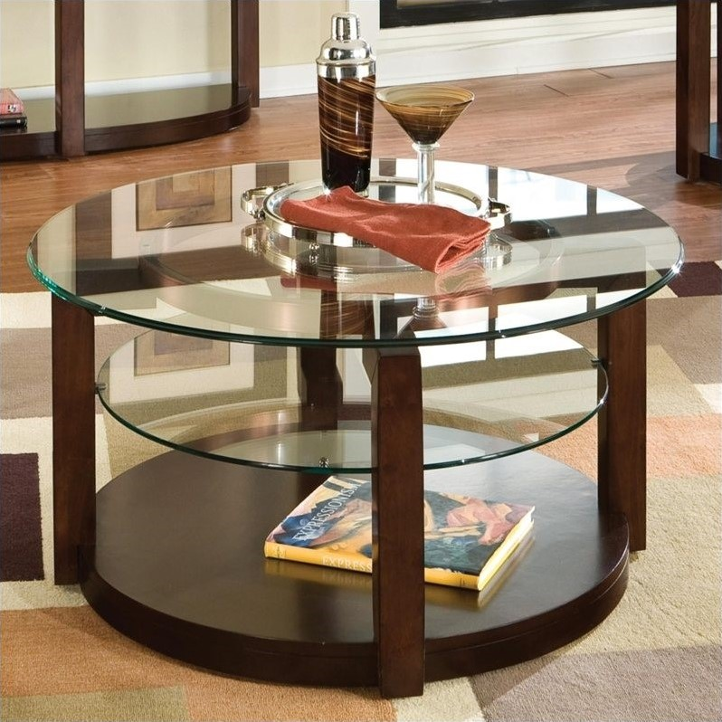 Coronado Coffee Table with Casters in Chocolate