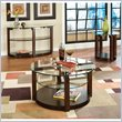 Standard Furniture Coronado 3 Piece Coffee Table Set in Rich Dark Chocolate