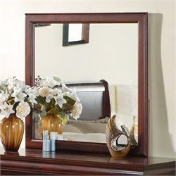 Standard Furniture Lewiston Mirror in Deep Brown Finish