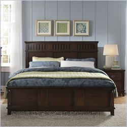 Standard Furniture Sonoma Bed in Dark Brown - King Size