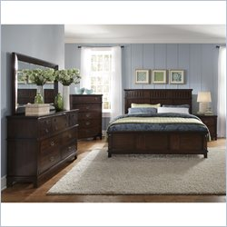 Standard Furniture Sonoma 3 Piece Bedroom Set in Dark Brown