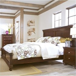 Standard Furniture Essex Bed in Rich Dark Merlot - Queen Size
