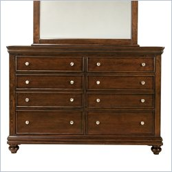 Standard Furniture Essex 8 Drawer Dresser in Rich Dark Merlot