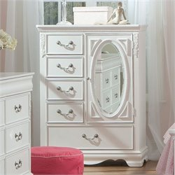 Standard Furniture Jessica Wardrobe Chest in Clean White Finish