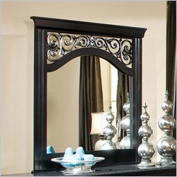 Standard Furniture Madera Mirror in Ebony Black