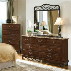 Standard Furniture Santa Cruz 7 Drawer Dresser and Mirror Set