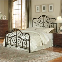 Standard Furniture Santa Cruz Metal Bed in Bronze Finish - Queen