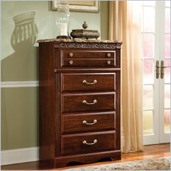 Standard Furniture Triomphe 5 Drawer Chest in Zinfandale Cherry