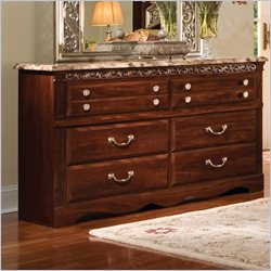 Standard Furniture Triomphe 6 Drawer Dresser in Zinfandale Cherry