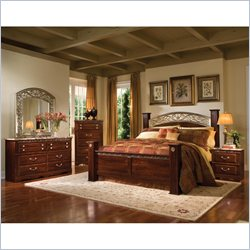 Standard Furniture Triomphe 6 Piece Bedroom Set in Cherry
