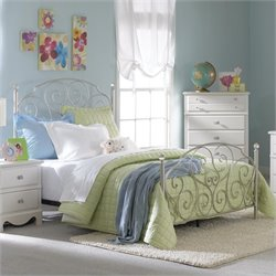 Standard Furniture Spring Rose Metal Bed - Twin